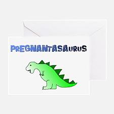 PREGNANTASAURUS Greeting Card