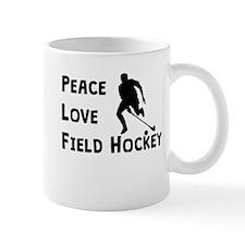 Peace Love Field Hockey Mugs