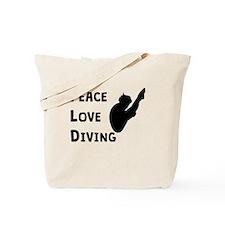 Peace Love Diving Tote Bag