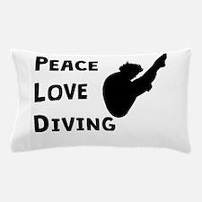 Peace Love Diving Pillow Case