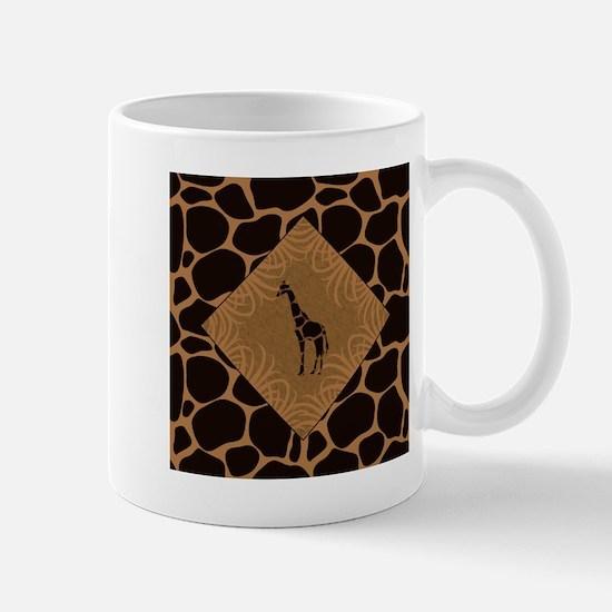 Giraffe with Animal Print Mug