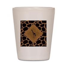 Giraffe with Animal Print Shot Glass