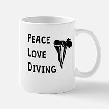 Peace Love Diving Mugs