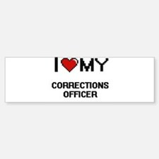 I love my Corrections Officer Bumper Bumper Bumper Sticker