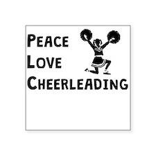 Peace Love Cheerleading Sticker