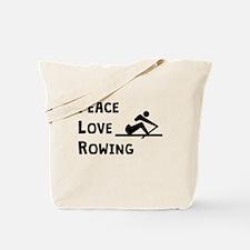 Peace Love Rowing Tote Bag