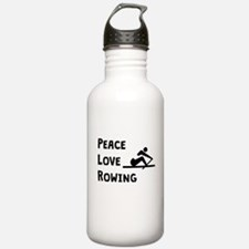 Peace Love Rowing Water Bottle