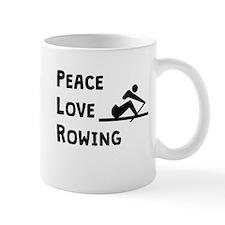 Peace Love Rowing Mugs