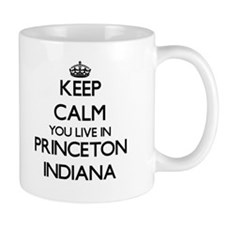 Keep calm you live in Princeton Indiana Mugs