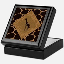 Giraffe with Animal Print Keepsake Box