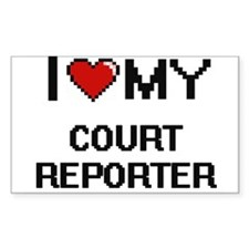 I love my Court Reporter Decal
