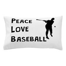 Peace Love Baseball Pillow Case