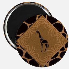 Giraffe with Animal Print Magnets