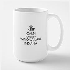Keep calm you live in Winona Lake Indiana Mugs