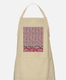 Watermelon Mania - double row border stripes Apron