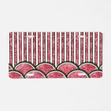 Watermelon Mania - double row border stripes Alumi