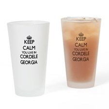 Keep calm you live in Cordele Georg Drinking Glass