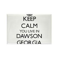 Keep calm you live in Dawson Georgia Magnets