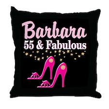 FABULOUS 55TH Throw Pillow