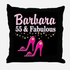 FABULOUS 55TH Throw Pillow