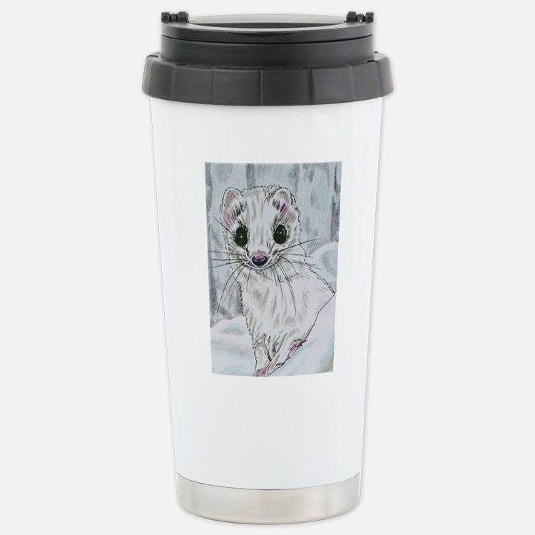 Winter Stoat Travel Mug