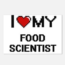 I love my Food Scientist Postcards (Package of 8)