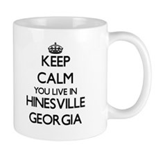 Keep calm you live in Hinesville Georgia Mugs
