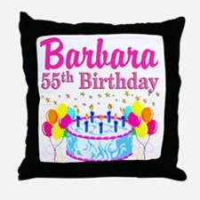 DAZZLING 55TH Throw Pillow
