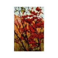 Thomson - Soft Maple in Autumn Rectangle Magnet