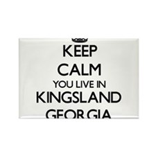 Keep calm you live in Kingsland Georgia Magnets