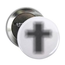 """Faded Edge Cross 2.25"""" Button (10 pack)"""