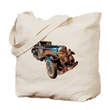 Vintage Steampunk Car Tote Bag
