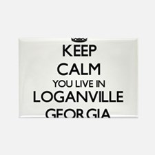 Keep calm you live in Loganville Georgia Magnets