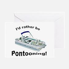I'd Rather Be Pontooning Card