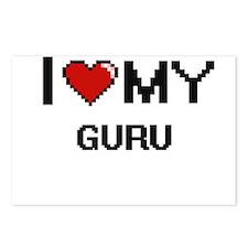 I love my Guru Postcards (Package of 8)