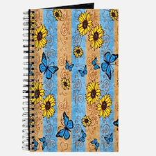 Country Sunflower And Butterflies Journal