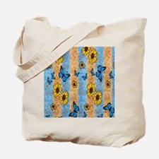 Country Sunflower And Butterflies Tote Bag