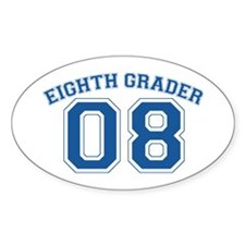Eight Grader 08 Oval Decal