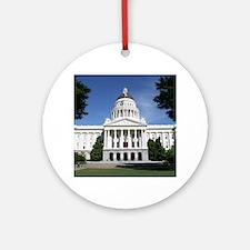 Capitol in Sacramento Ornament (Round)