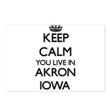 Keep calm you live in Akr Postcards (Package of 8)