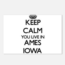 Keep calm you live in Ame Postcards (Package of 8)