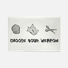 """Rock Paper Scissors"" Rectangle Magnet"