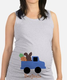 Easter time truck personalized Maternity Tank Top