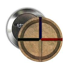 Cherokee Medicine Wheel Button