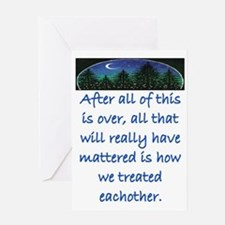 HOW WE TREAT EACH OTHER (SKYLINE) Greeting Card