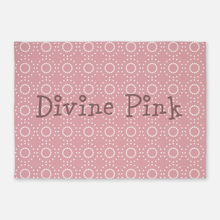 Cute Chick Pink 5'x7'Area Rug