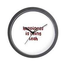 happiness is being Leah Wall Clock