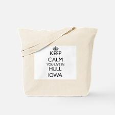 Keep calm you live in Hull Iowa Tote Bag