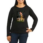 Fairies & Corgi Women's Long Sleeve Dark T-Shirt