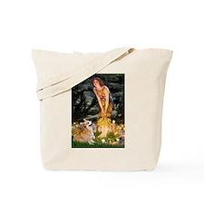 Fairies & Corgi Tote Bag